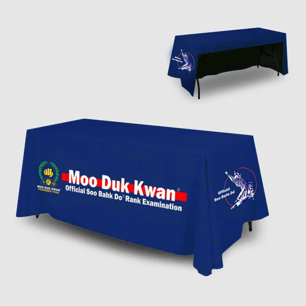 Perfect Gift For Your Instructor, School or Region<br /><span style='font-family: arial, helvetica, sans-serif; font-size: 12pt; color: teal;'>Official Moo Duk Kwan® Exam Table Cover 6ft</span>