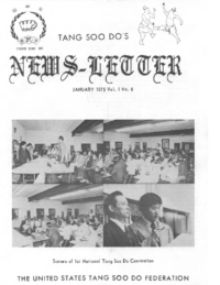 1974 11 30 Usa Moo Duk Kwan Federation Formation Convention Report Newsletter