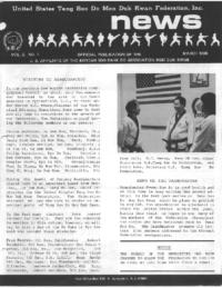 1980 03 Usa Moo Duk Kwan Federation Newsletter