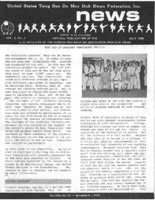 thumbnail of 1980 07 Usa Moo Duk Kwan Federation Newsletter