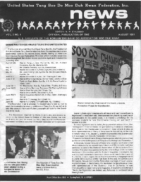 1981 08 Usa Moo Duk Kwan Federation Newsletter