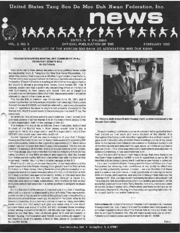 thumbnail of 1982 02 Usa Moo Duk Kwan Federation Newsletter