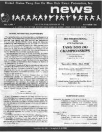 1982 11 Usa Moo Duk Kwan Federation Newsletter