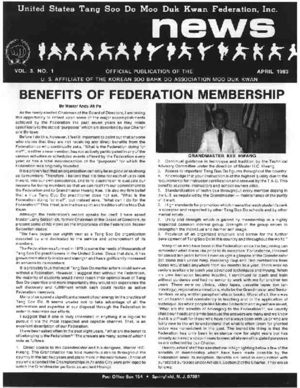 thumbnail of 1983 04 Usa Moo Duk Kwan Federation Newsletter