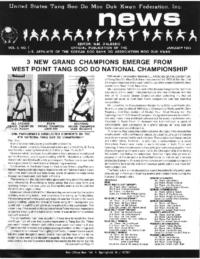 1985 01 Usa Moo Duk Kwan Federation Newsletter