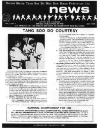 1985 05 Usa Moo Duk Kwan Federation Newsletter