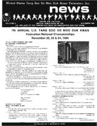 1985 11 Usa Moo Duk Kwan Federation Newsletter