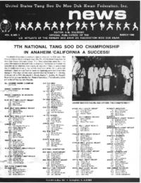 1986 03 Usa Moo Duk Kwan Federation Newsletter