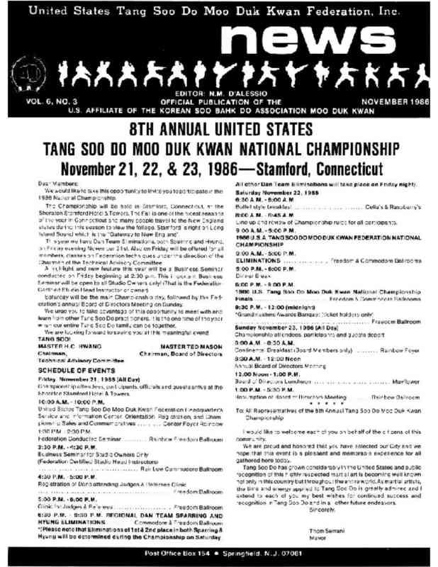 thumbnail of 1986 11 Usa Moo Duk Kwan Federation Newsletter