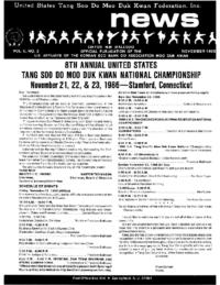 1986 11 Usa Moo Duk Kwan Federation Newsletter