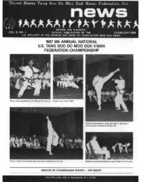 1988 02 Usa Moo Duk Kwan Federation Newsletter