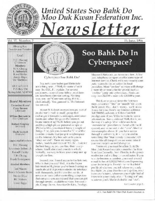 thumbnail of 1996 06 Usa Moo Duk Kwan Federation Newsletter