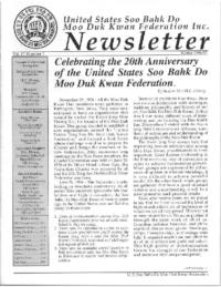 1996 12 Usa Moo Duk Kwan Federation Newsletter