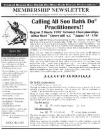 1997 04 Usa Moo Duk Kwan Federation Newsletter