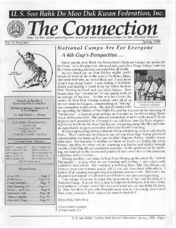 thumbnail of 1999 03 Usa Moo Duk Kwan Federation Newsletter