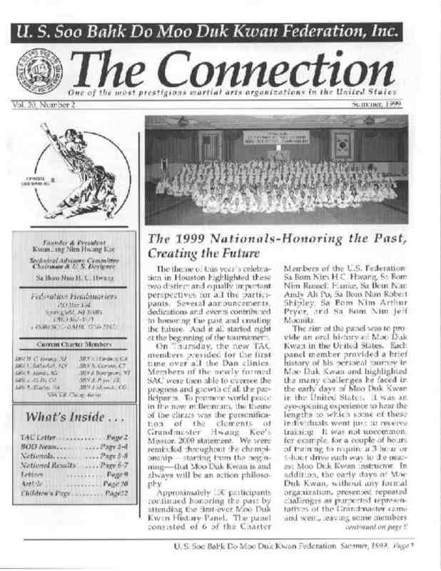 thumbnail of 1999 06 Usa Moo Duk Kwan Federation Newsletter