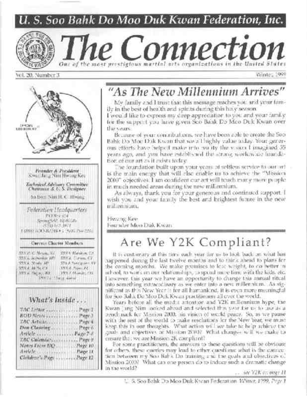 thumbnail of 1999 11 Usa Moo Duk Kwan Federation Newsletter