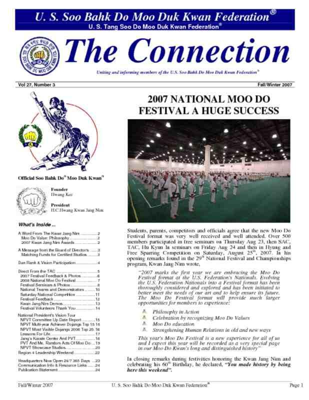 thumbnail of 2007 12 01 Usa Moo Duk Kwan Federation Newsletter