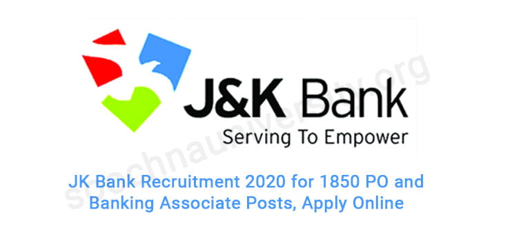 JK Bank recruitment 2020 [Apply now for 1850 posts] 1
