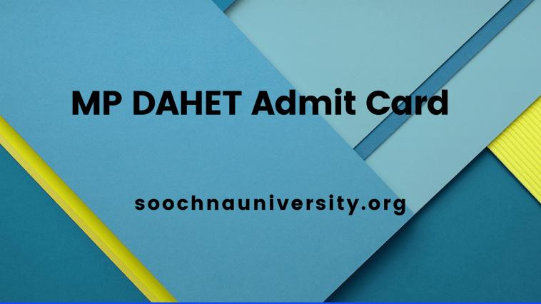 MP DAHET Admit Card
