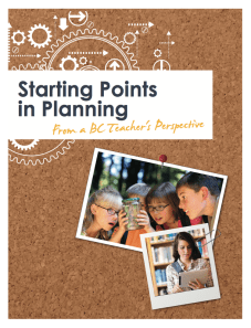 Starting Points in Planning