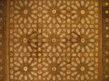 Mudejar Ceiling in The Royal Alcazar of Seville
