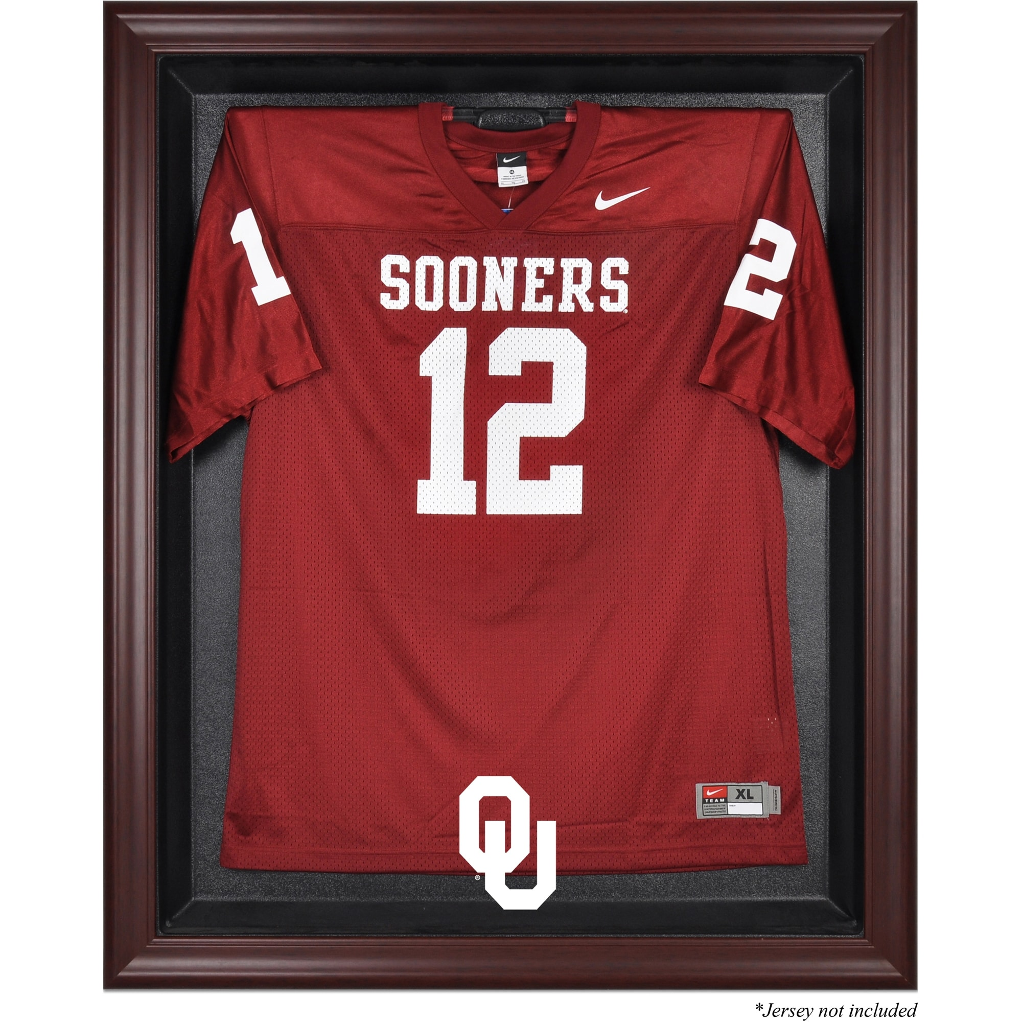 Oklahoma Sooners Fanatics Authentic Mahogany Framed Logo Jersey Display Case