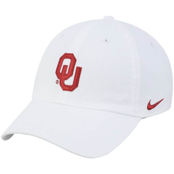 Oklahoma Sooners Nike Heritage 86 Logo Performance Adjustable Hat - White