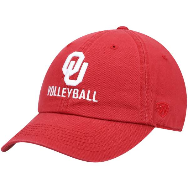 Oklahoma Sooners Top of the World Volleyball Crew Adjustable Hat - Crimson