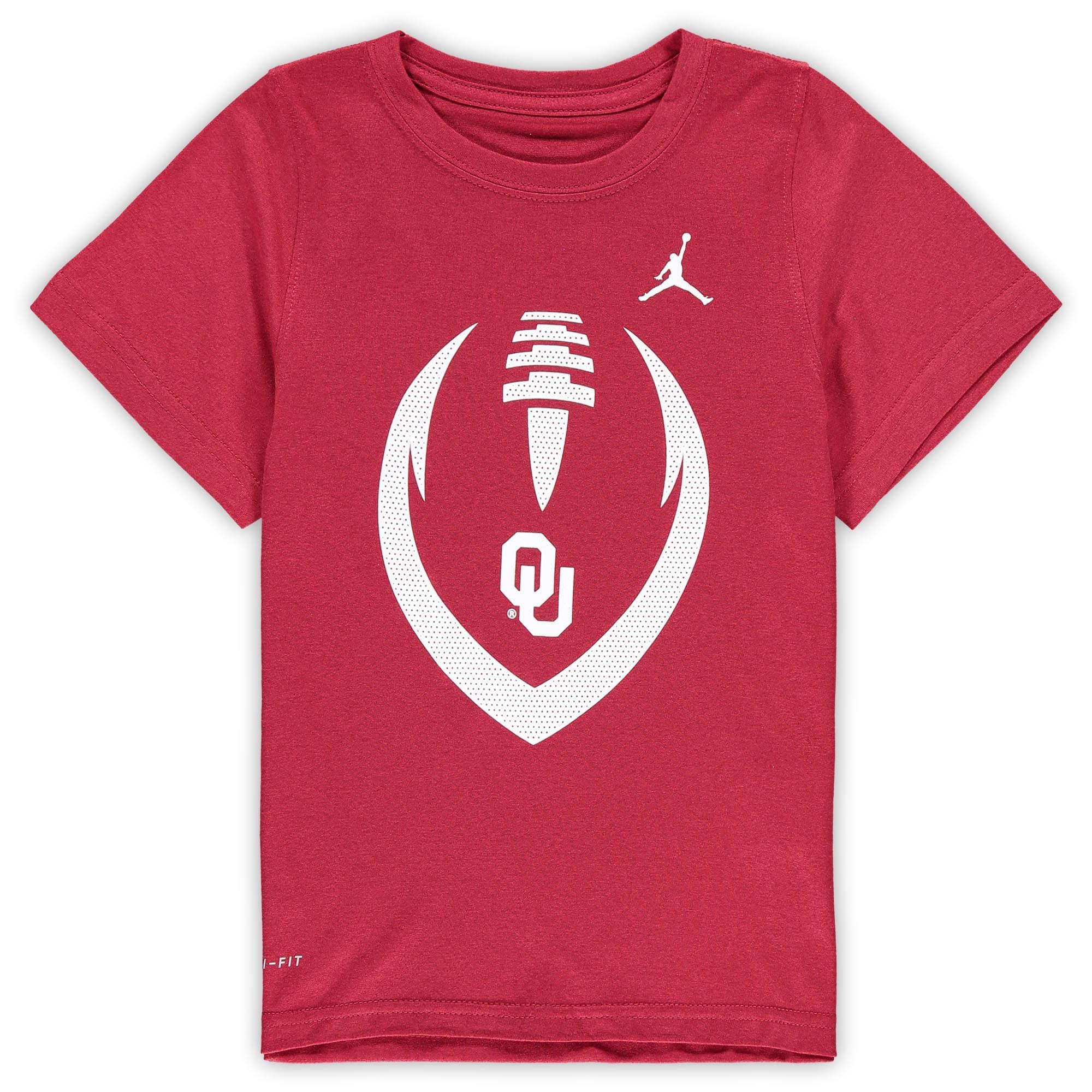 Oklahoma Sooners Jordan Brand Preschool Football Icon Performance T-Shirt - Crimson