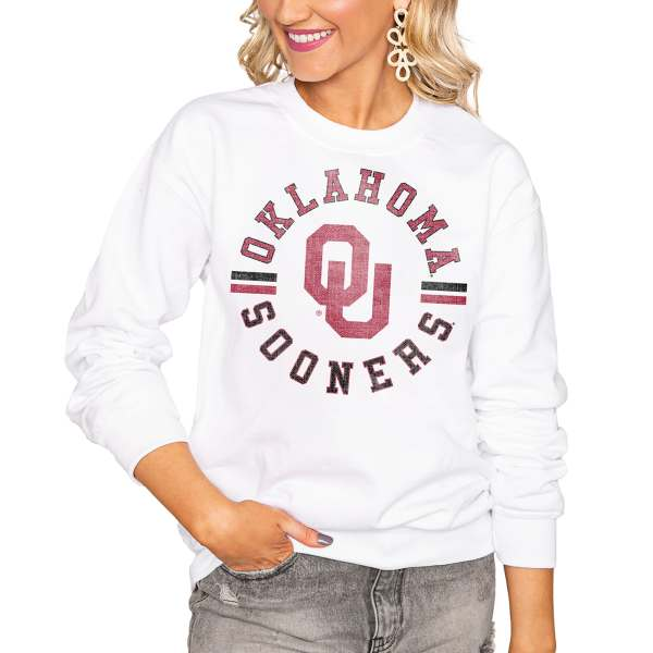Oklahoma Sooners Women's Vintage Days Perfect Pullover Sweatshirt - White