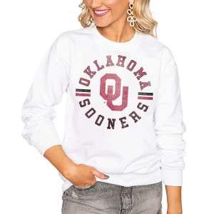 Oklahoma Sooners Women's Vintage Days Perfect Pullover Sweatshirt - White
