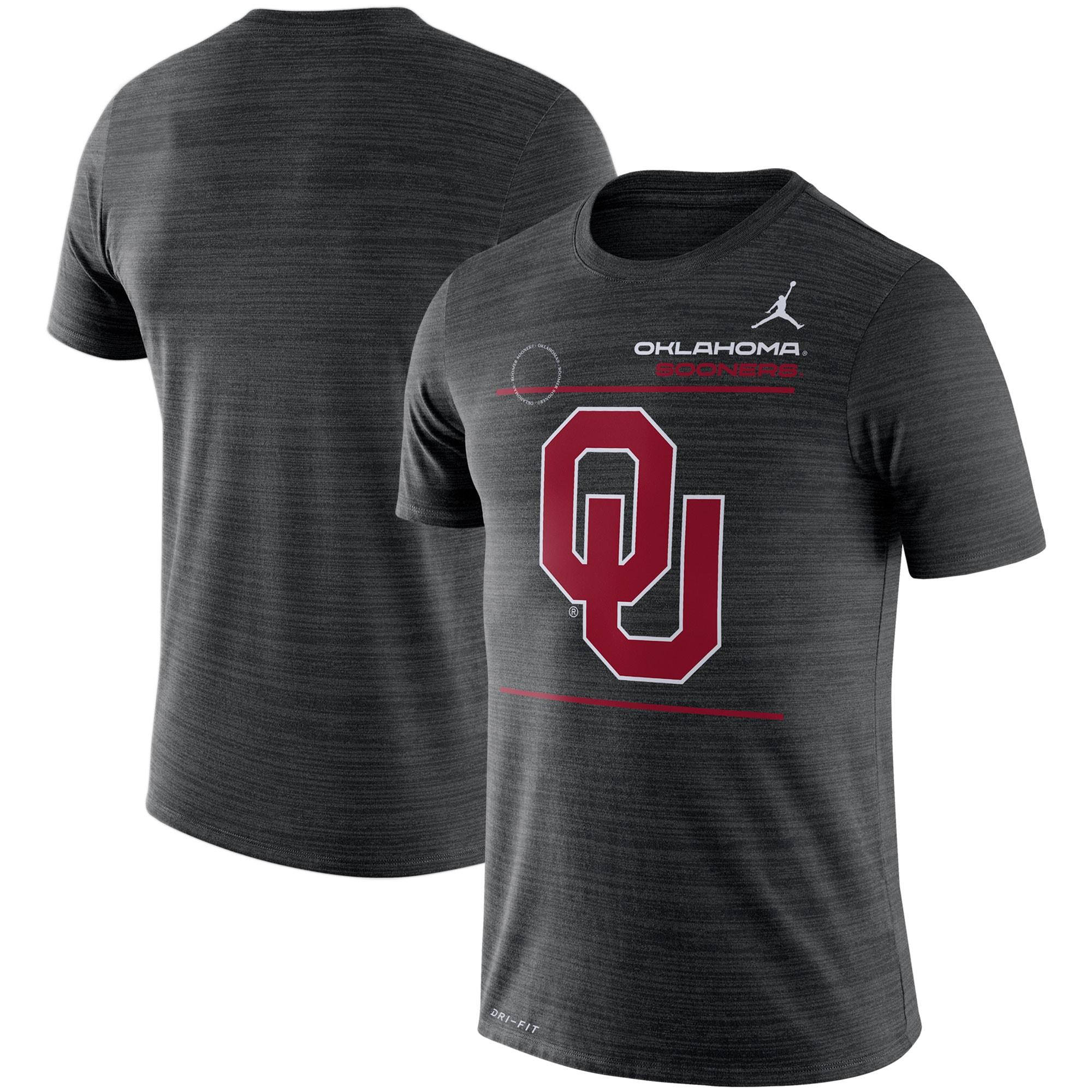 Oklahoma Sooners Jordan Brand 2021 Sideline Velocity Performance T-Shirt - Black