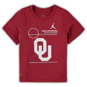 Oklahoma Sooners Jordan Brand Preschool 2021 Sideline Legend Performance T-Shirt - Crimson