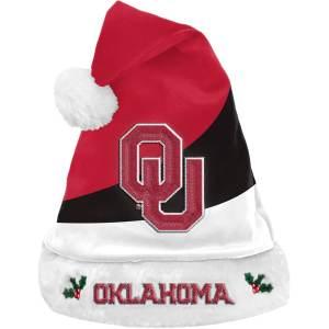 FOCO Oklahoma Sooners Colorblock Santa Hat