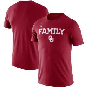 Men's Jordan Brand Crimson Oklahoma Sooners Family Verb T-Shirt