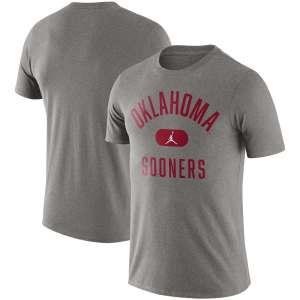 Men's Jordan Brand Heathered Gray Oklahoma Sooners Team Arch T-Shirt