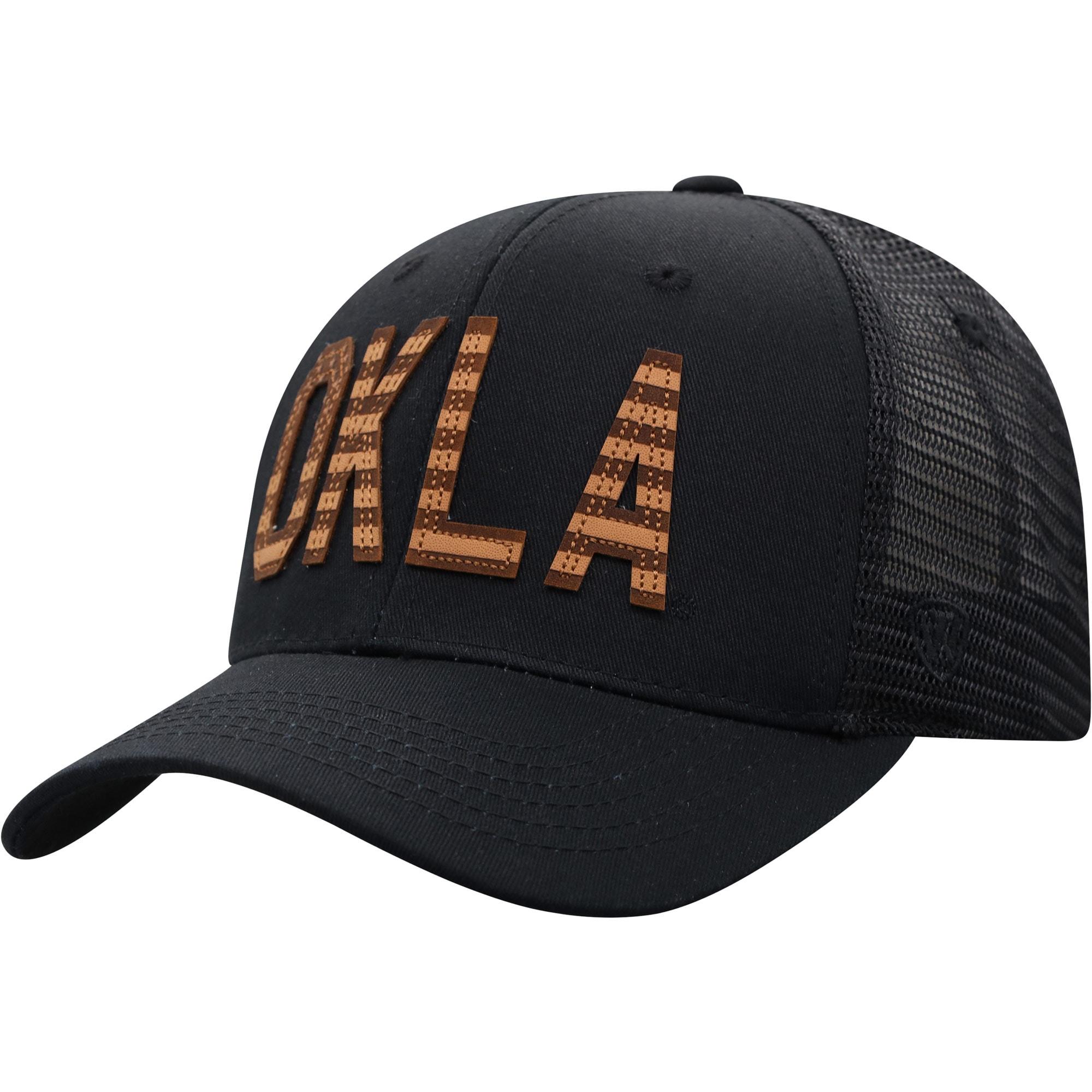Men's Top of the World Black Oklahoma Sooners Cannon Trucker Snapback Hat