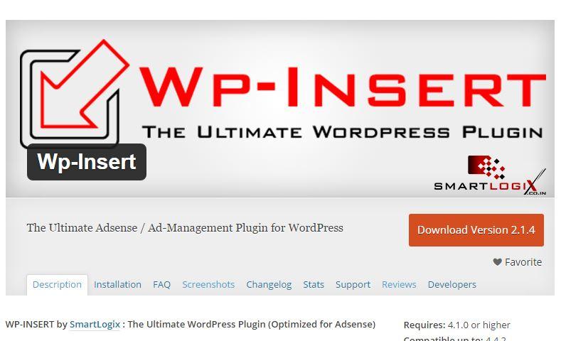 Google Adsense WordPress Plugin Alternative Wp Insert