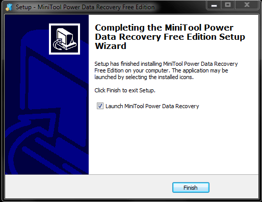 installation of power data recovery software complete