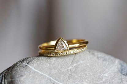 Wedding ring set by MinimalVS; image copyright MinimalVS