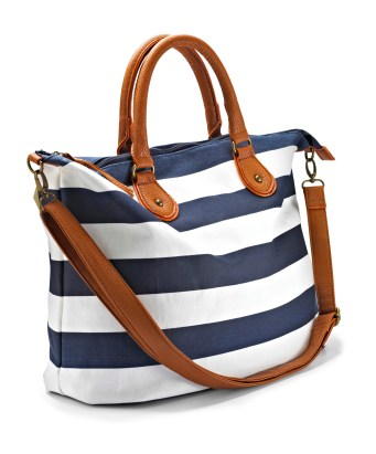 Sail Away: Draw inspiration from nautical trends for effortless and breezy looks. (Nautical bag - marisota.co.uk)