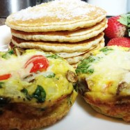 egg muffins and pancakes