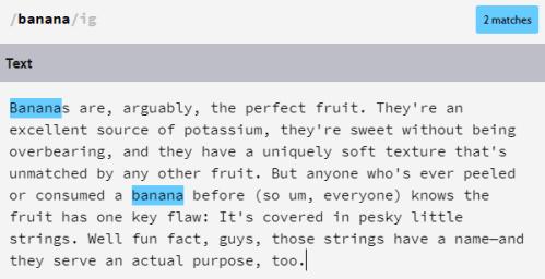 banana를 검색했을 때