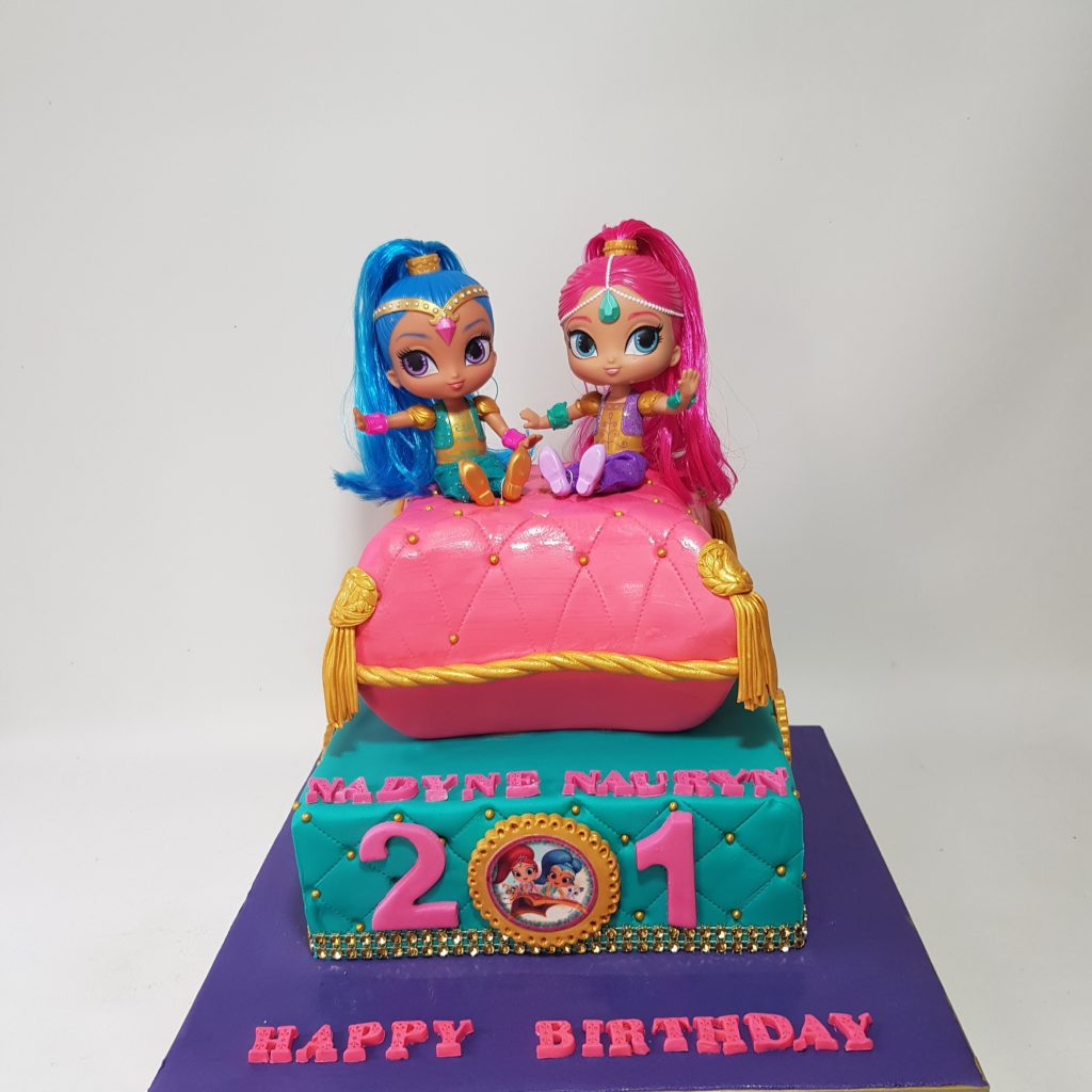 Shimmer And Shine 2 Tier Cake