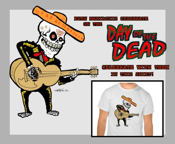 Zazzle-ad-DAY-of-the-Dead-Tshirt