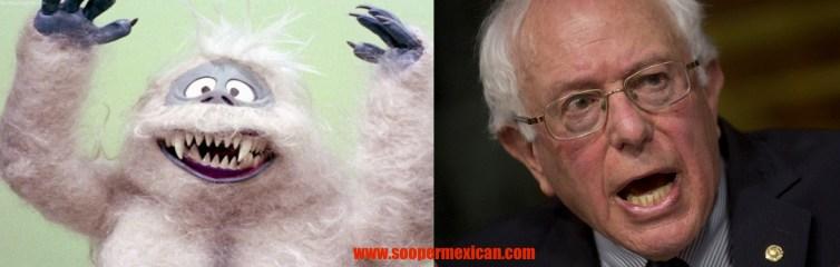 Bernie Sanders snowman