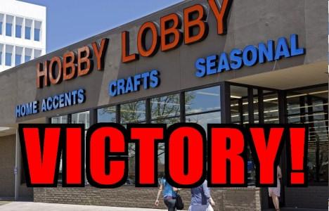 hobby lobby-VICTORY