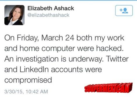 elizabeth ashack hacked