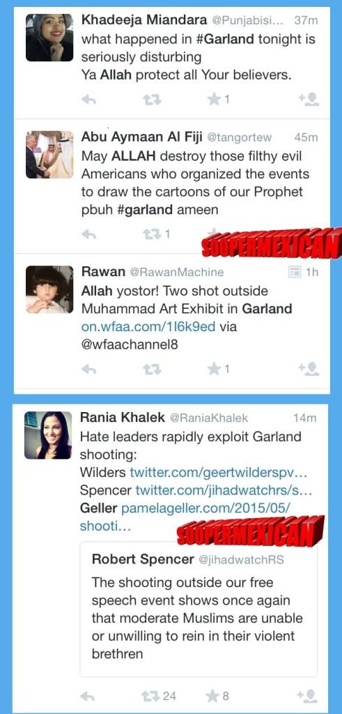 Garland tweets muslims blank big 12